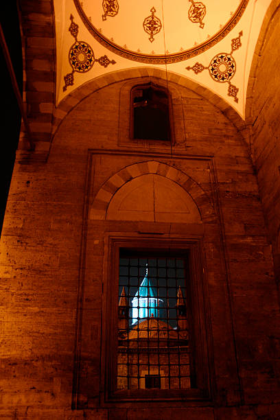 mevlana museum mevlana museum selimiye mosque night stock pictures, royalty-free photos & images
