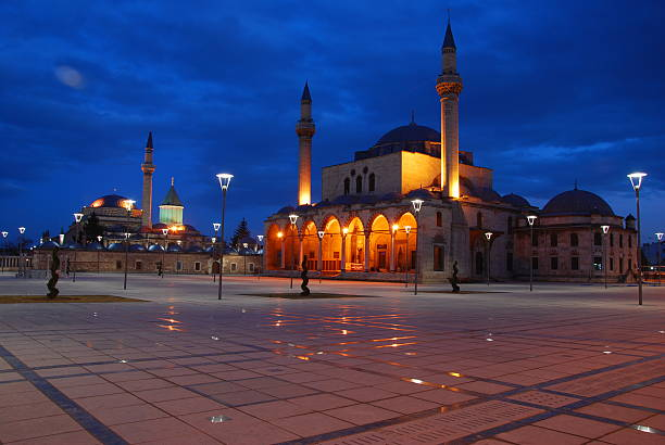 Mevlana selimiye mosque Caesar,pool,Mosque,night,tree,Sky,beautiful,Culture Park,selimiye Mosque,reflection,place,Blue,Granite selimiye mosque night stock pictures, royalty-free photos & images