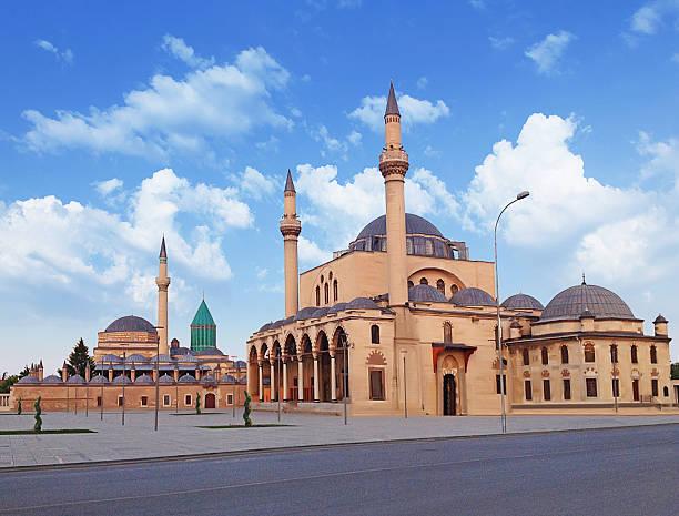 mevlana, türkei - selimiye moschee stock-fotos und bilder