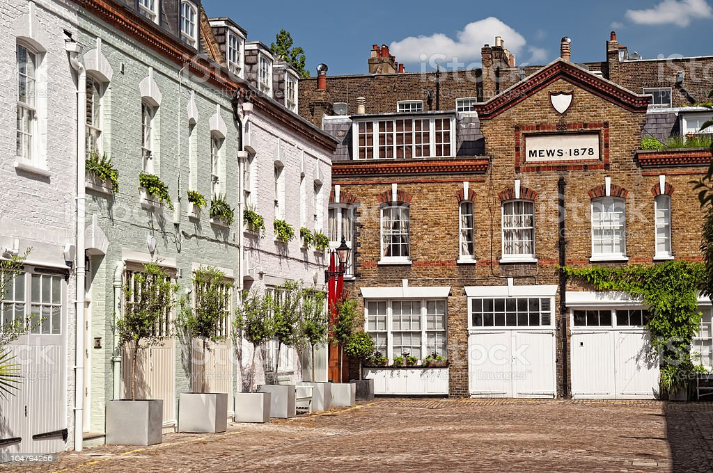Mews in London. stock photo
