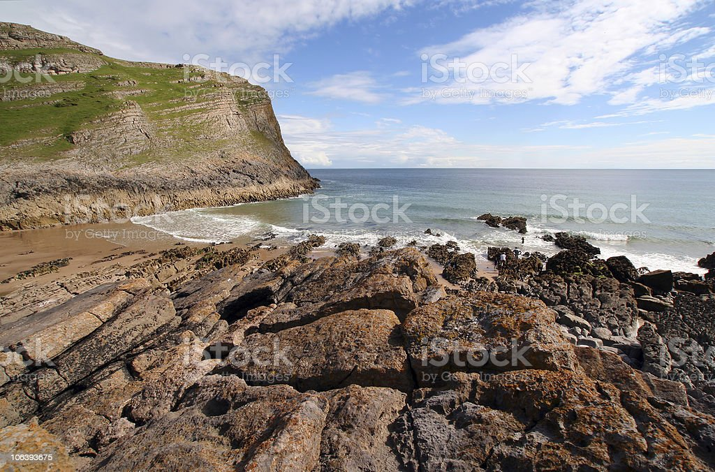 Mewslade Bay royalty-free stock photo