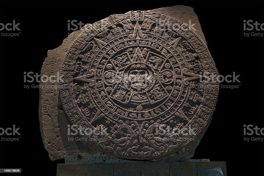 Mexica Sun Stone stock photo