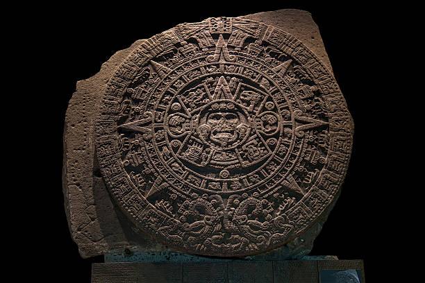 Mexica Sun Stone stock photo