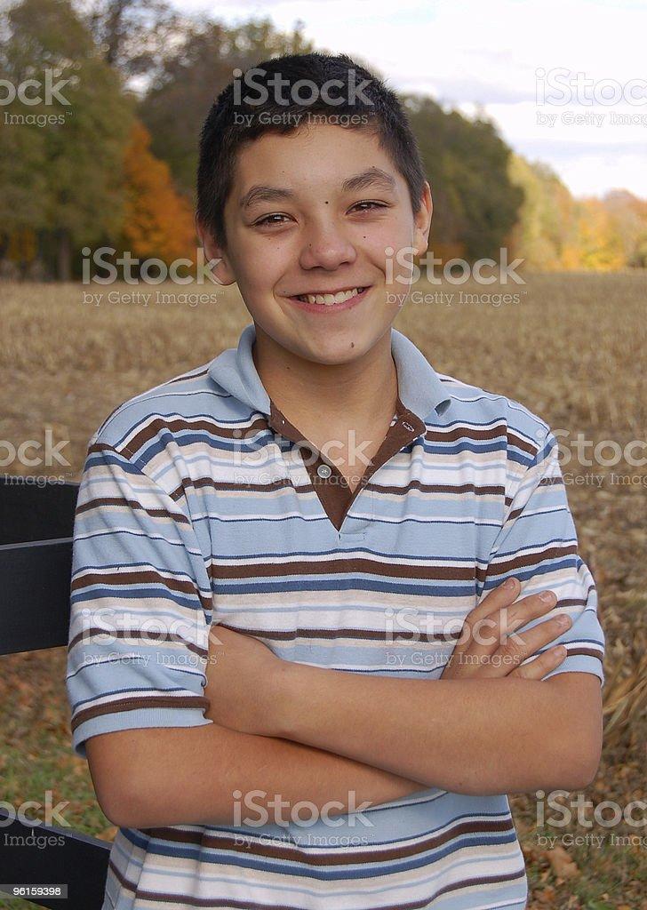 Mexican American Teen Boy stock photo