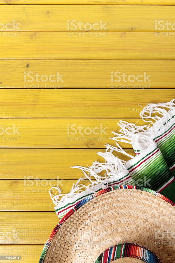 Mexican background with copyspace stock photo