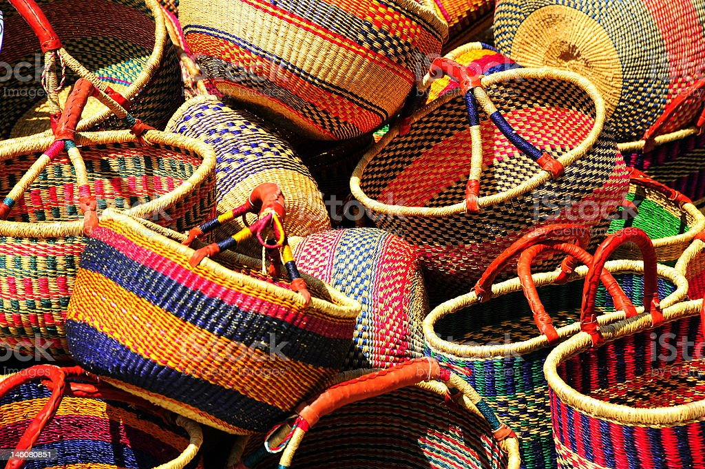 Mexican Baskets stock photo
