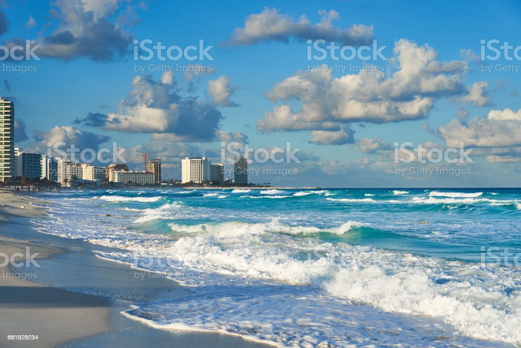 Mexican Beaches in Cancun stock photo