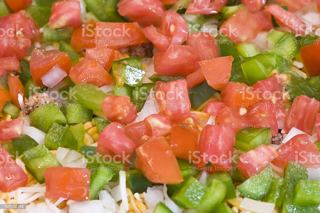 mexican bean dip royalty-free stock photo