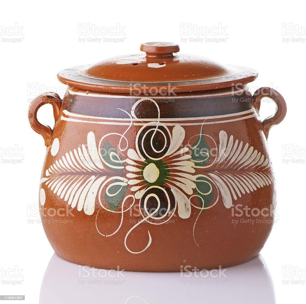 Mexican Bean Pot stock photo