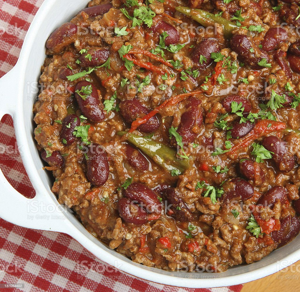 Mexican Beef Chili Dish royalty-free stock photo