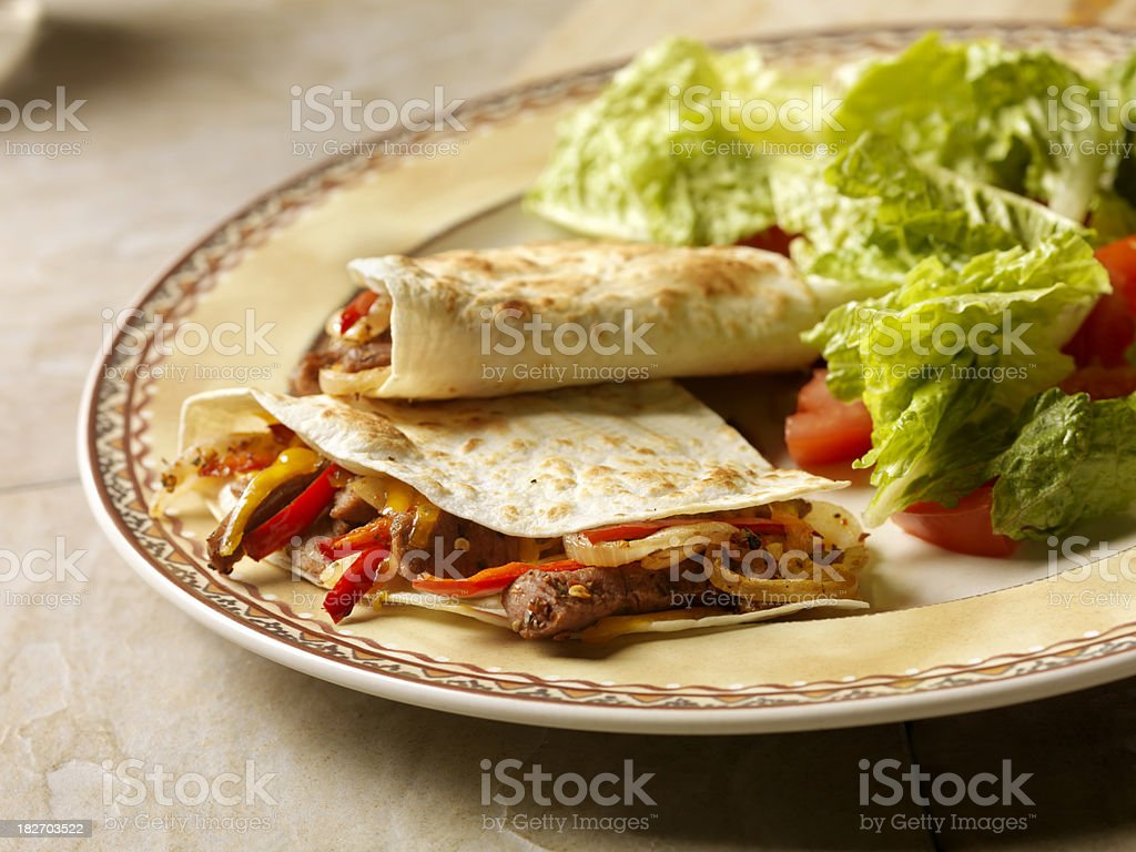 Mexican Beef Quesadilla royalty-free stock photo