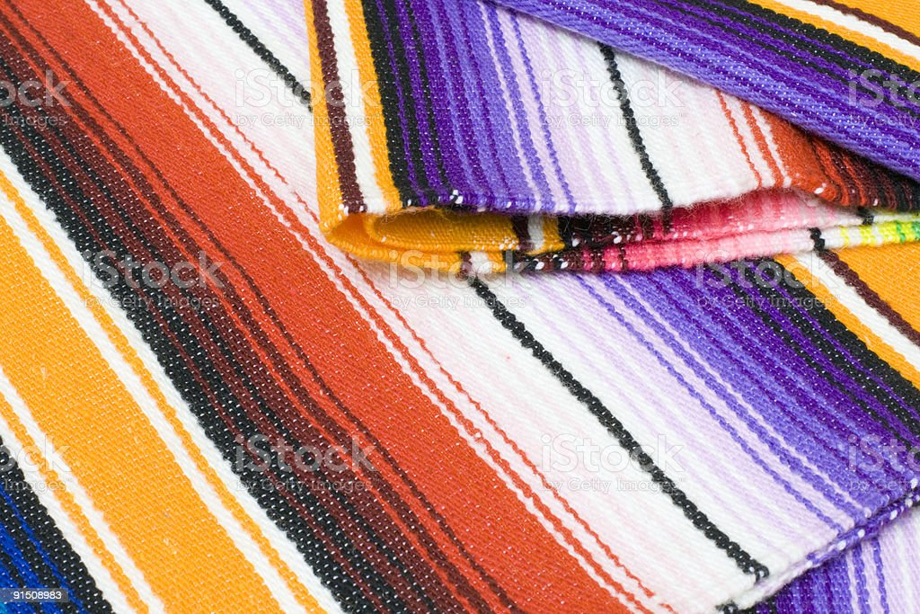 close up of a Mexican blanket