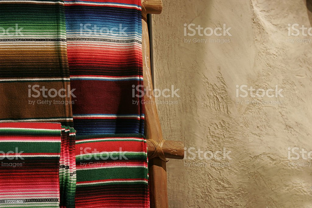 Mexican Blanket Still Life royalty-free stock photo