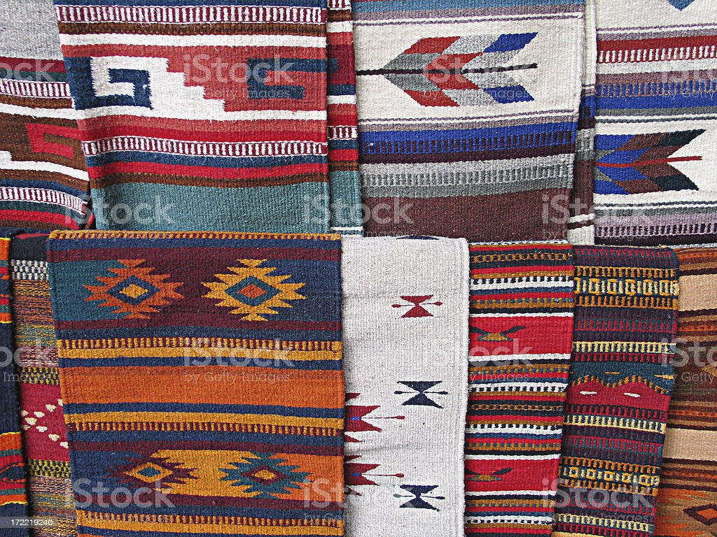 Mexican Blankets Background royalty-free stock photo