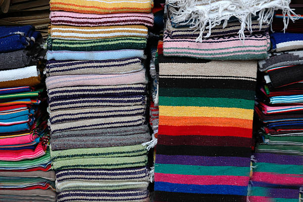 Mexican Blankets for Sale stock photo