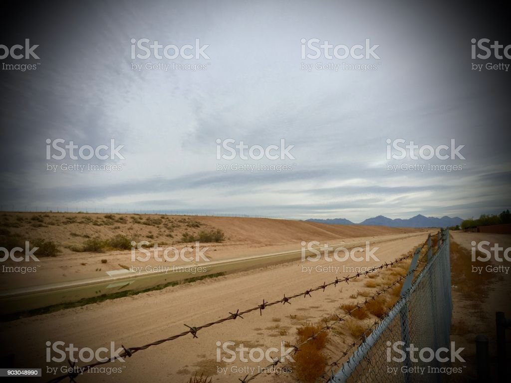 Mexican Border wall stock photo