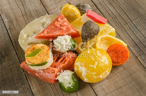 Colorful traditional assorted sweets
