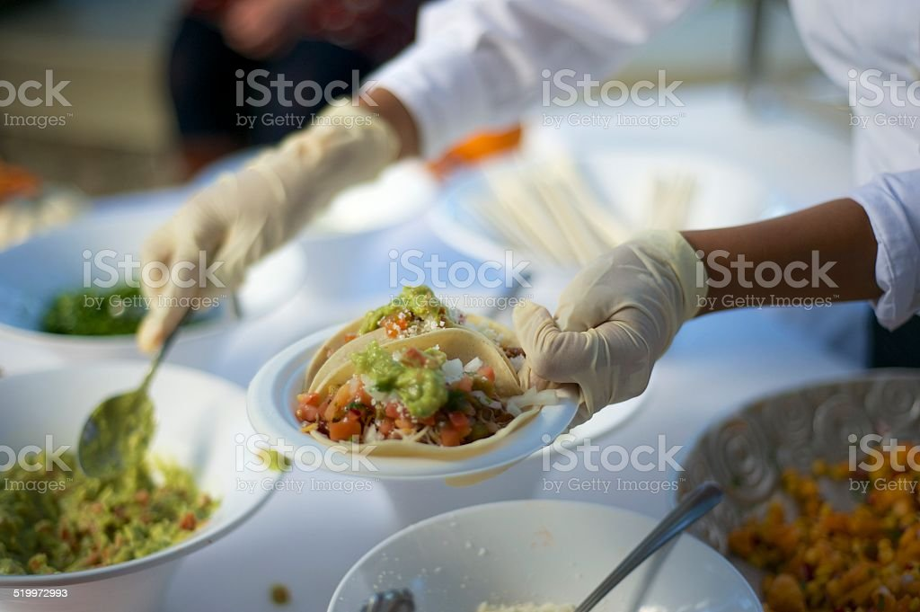 Mexican Caterer stock photo