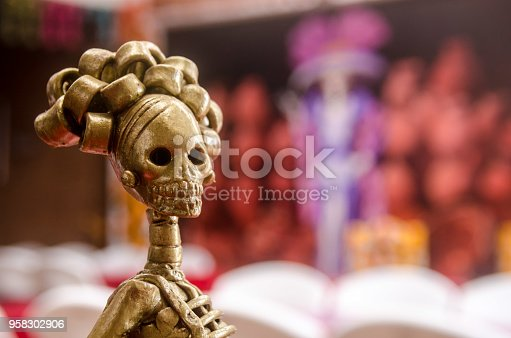istock Mexican Catrina of Capula, Michoacan 958302906