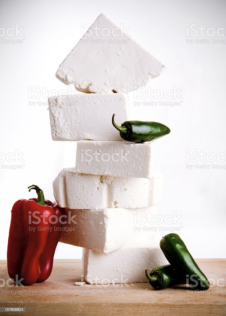 mexican cheese stock photo