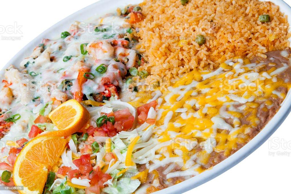 Mexican Cheesy Shrimp royalty-free stock photo