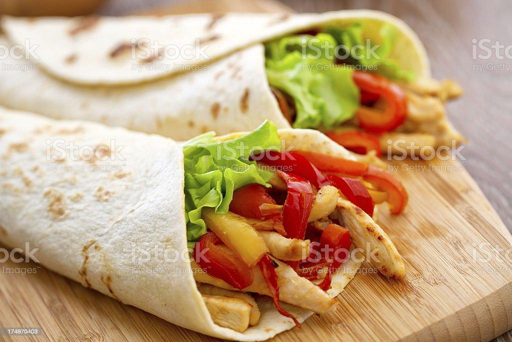 Mexican Chicken Fajita royalty-free stock photo