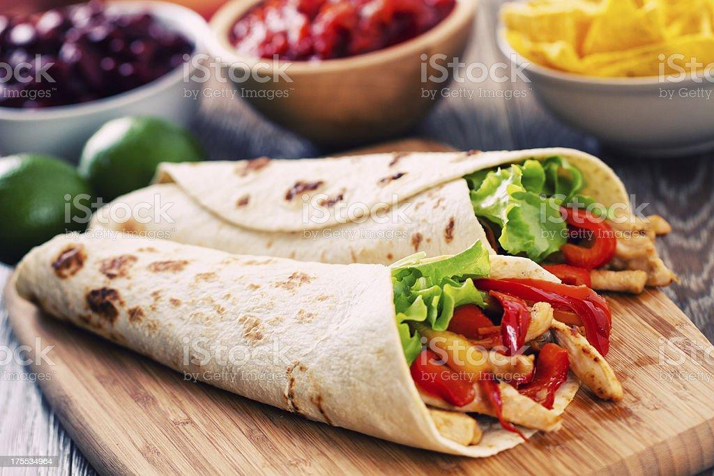 Mexican Chicken Fajita stock photo