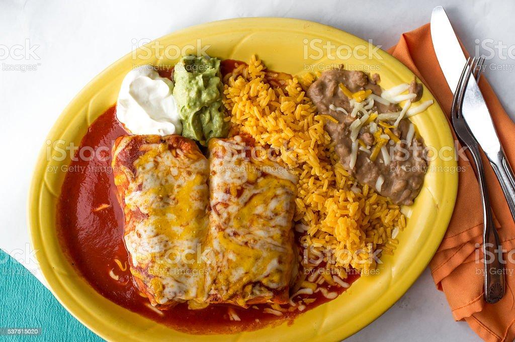 Mexican Chimichanga Burrito stock photo