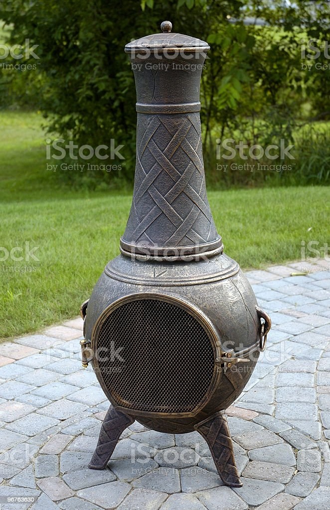 Mexican Chiminea Fire Pot stock photo