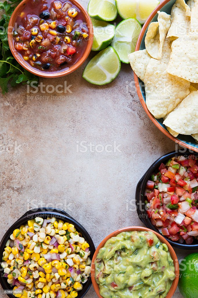 Mexican Chips and Dips stock photo