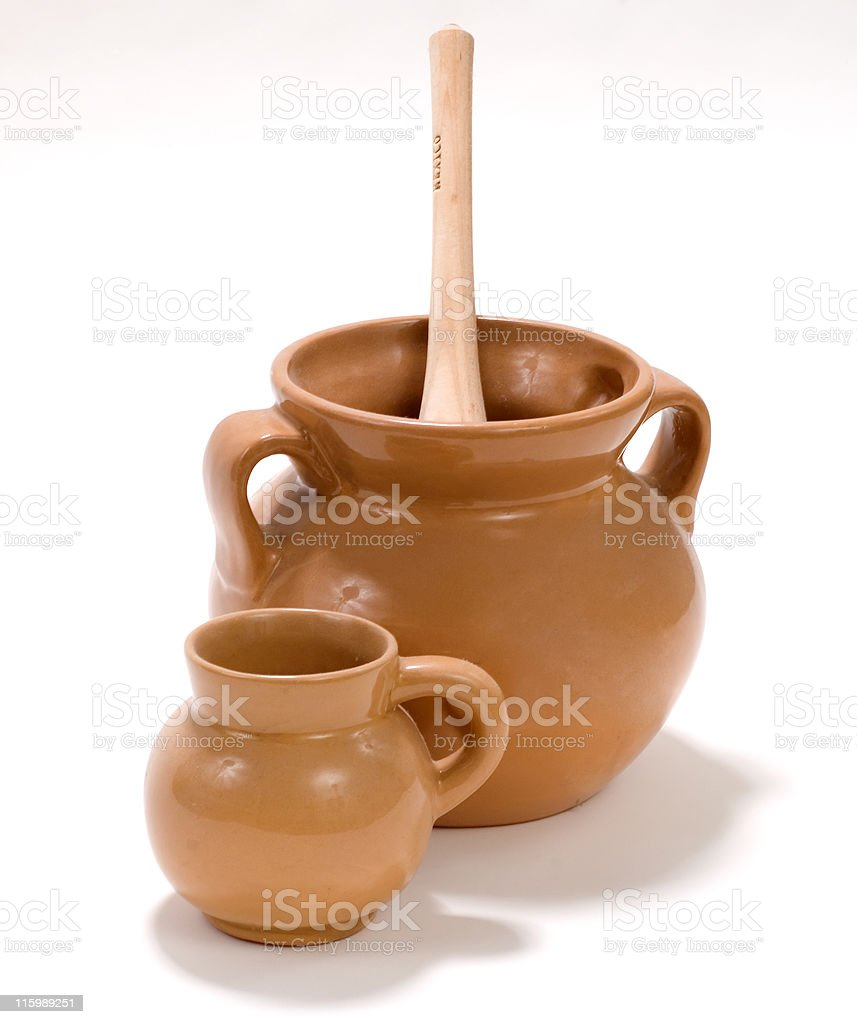 Mexican chocolate olla stock photo