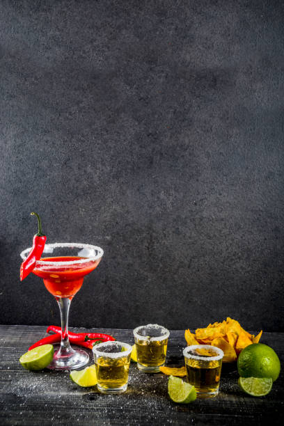 mexican cocktail for cinco de mayo - cinco de mayo party stock photos and pictures