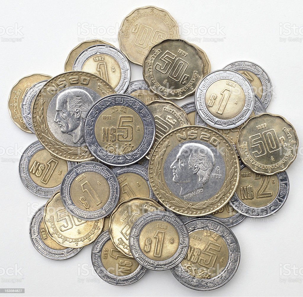 Mexican Coins Stock Photo & More Pictures of Backgrounds