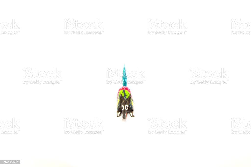 Mexican colorful souvernir (Alebrije) with white background - foto de stock