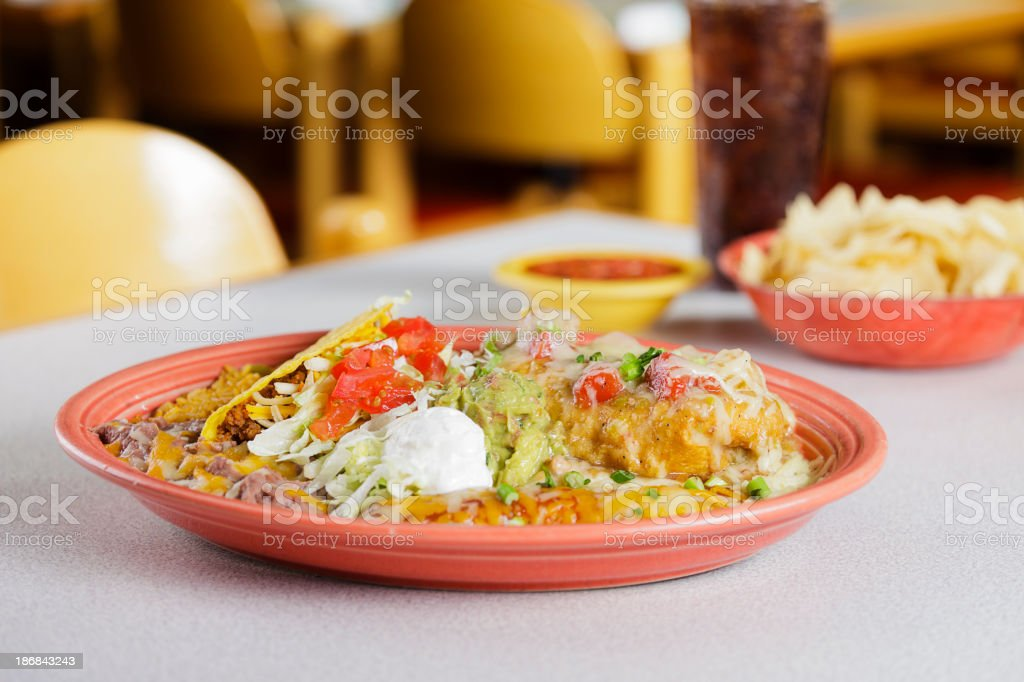 Mexican Combo Plate stock photo