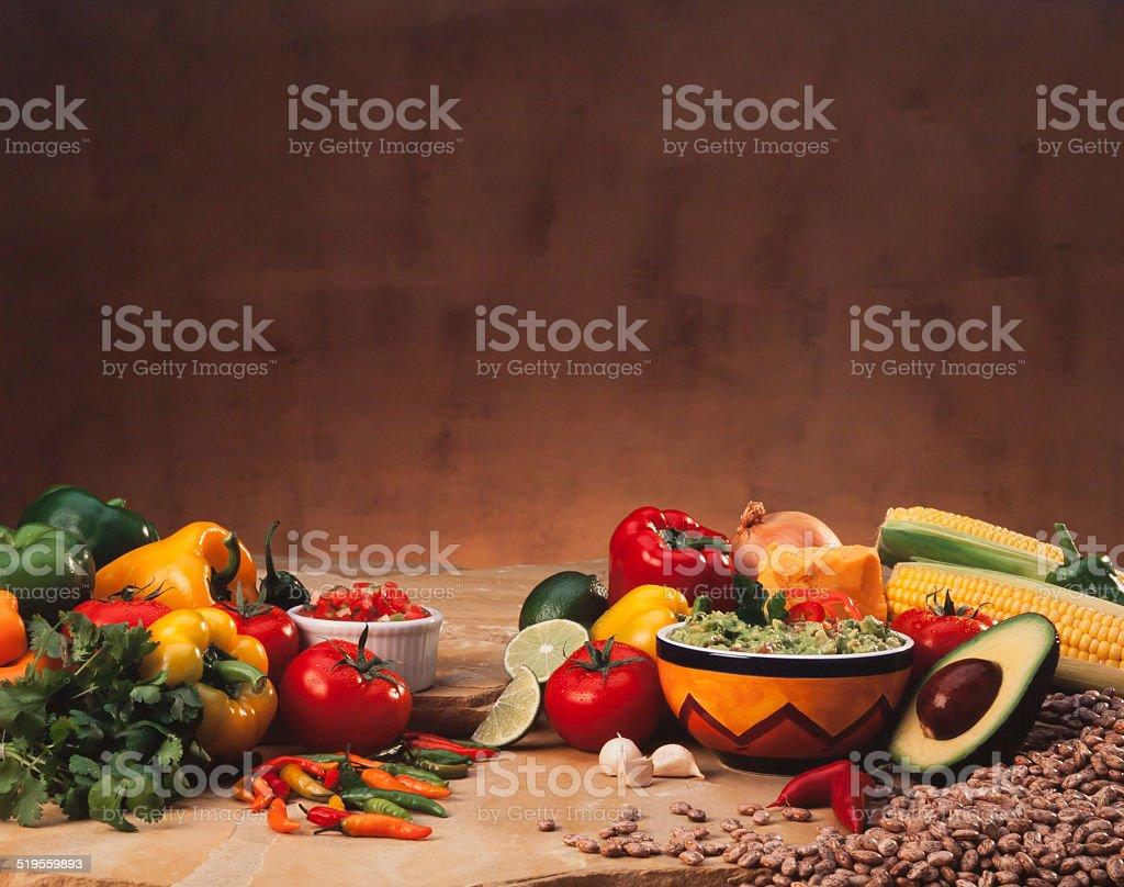 Mexican Cuisine Scene stock photo