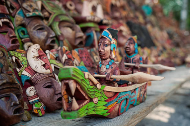Mexican culture. Souvenirs from the trip. Hand made a toy stock photo