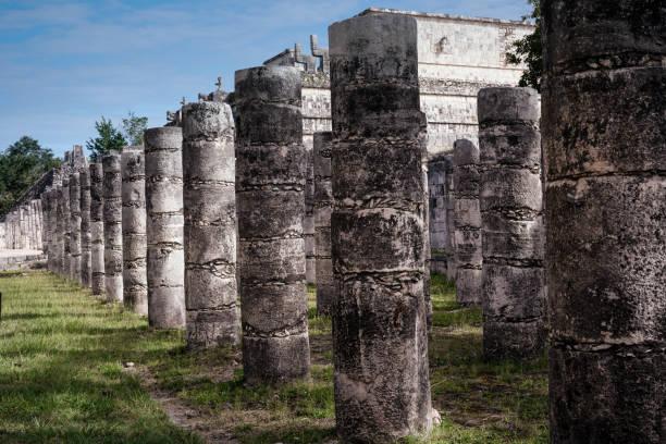 Mexican culture.Historical landmark.Columns 2 stock photo