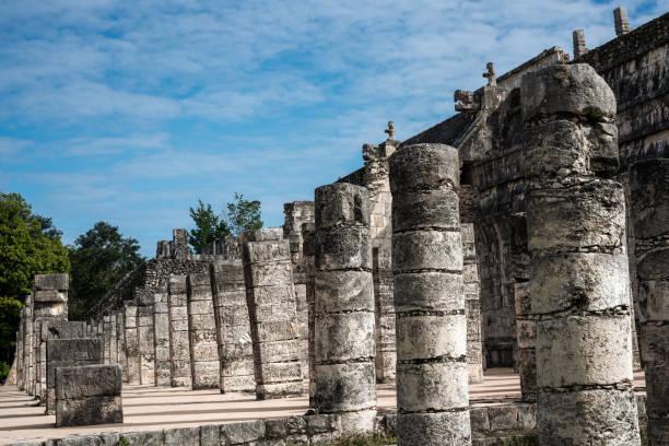 Mexican culture.Historical landmark.Columns 3 stock photo