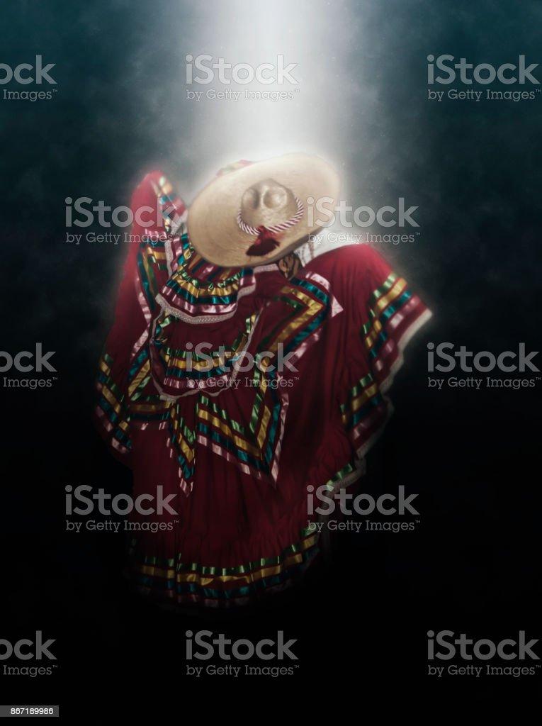 bailable mexicano stock photo