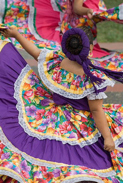 mexican dancers - traditional ceremony stock pictures, royalty-free photos & images