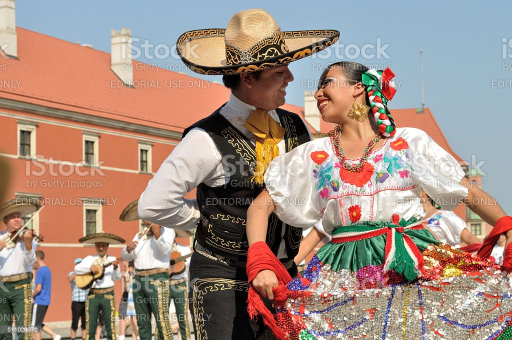 Mexican dancers stock photo