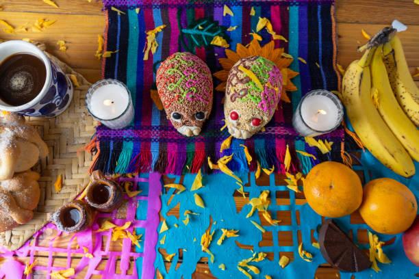 mexikanska dag av dead altaret - coffe with death bildbanksfoton och bilder