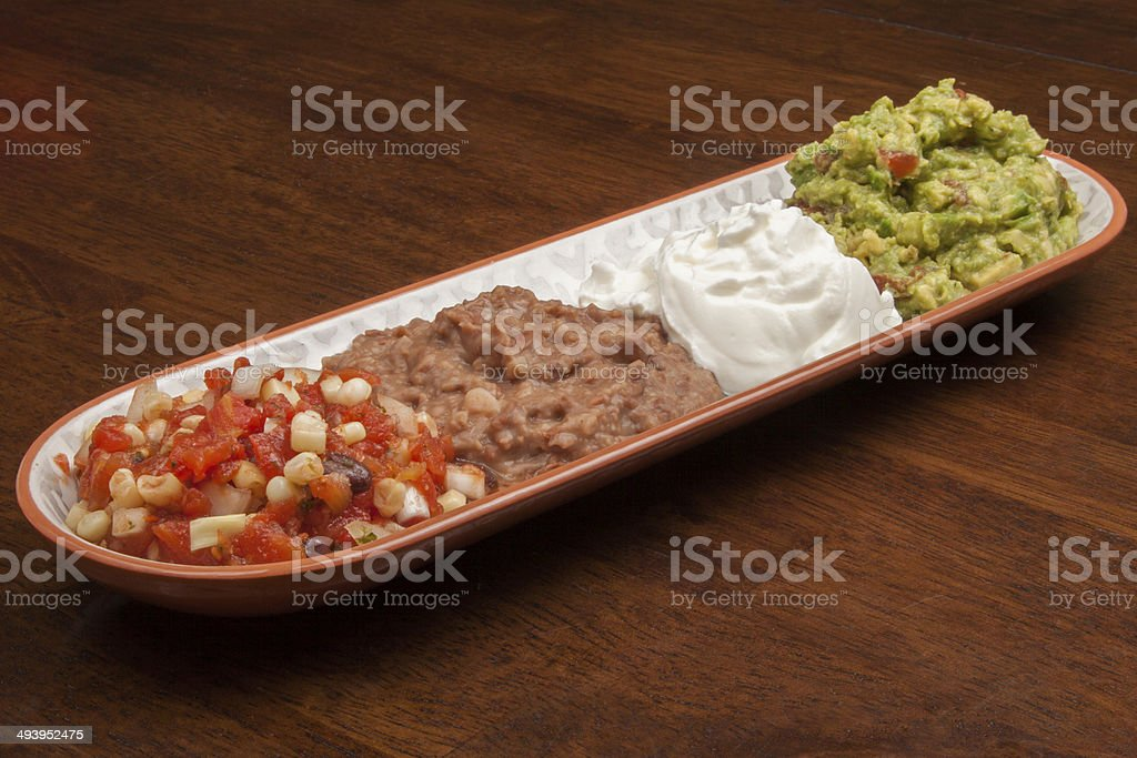 Mexican Dip Tray stock photo