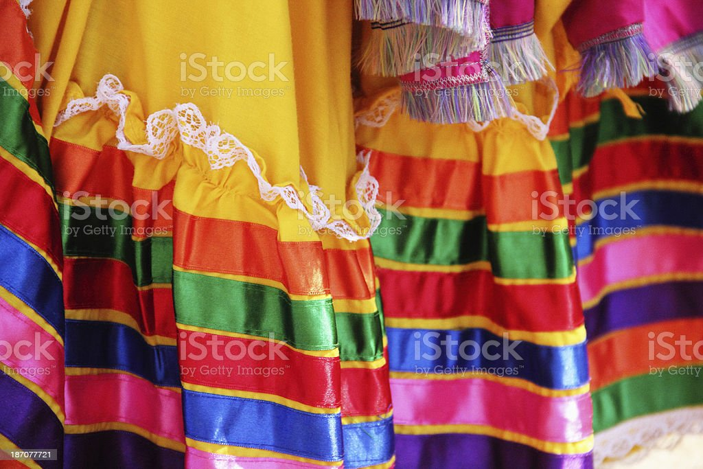 Mexican Dress Colorful stock photo