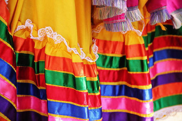 mexican dress colorful - cinco de mayo stock photos and pictures