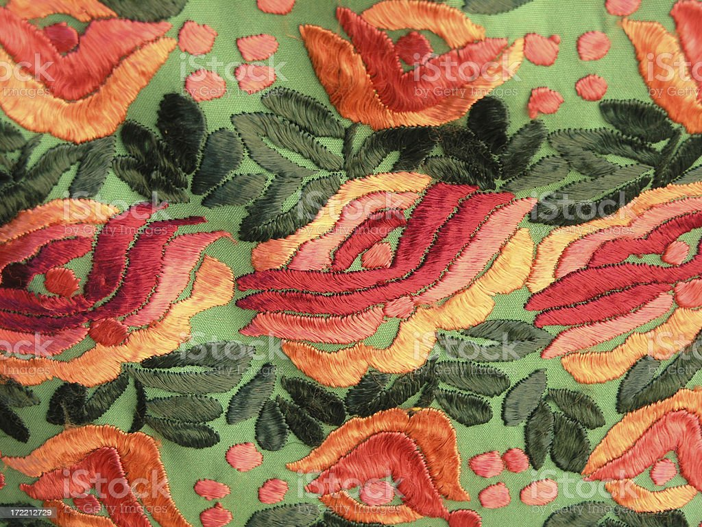 Mexican Embroidery royalty-free stock photo