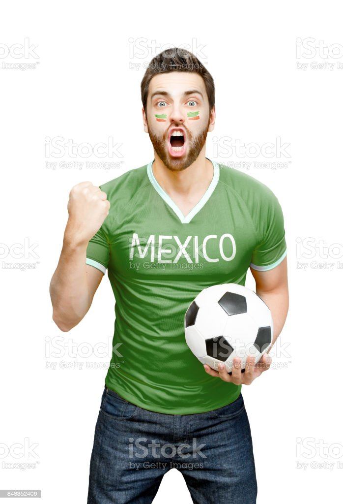 Fan mexicana celebrando - foto de stock