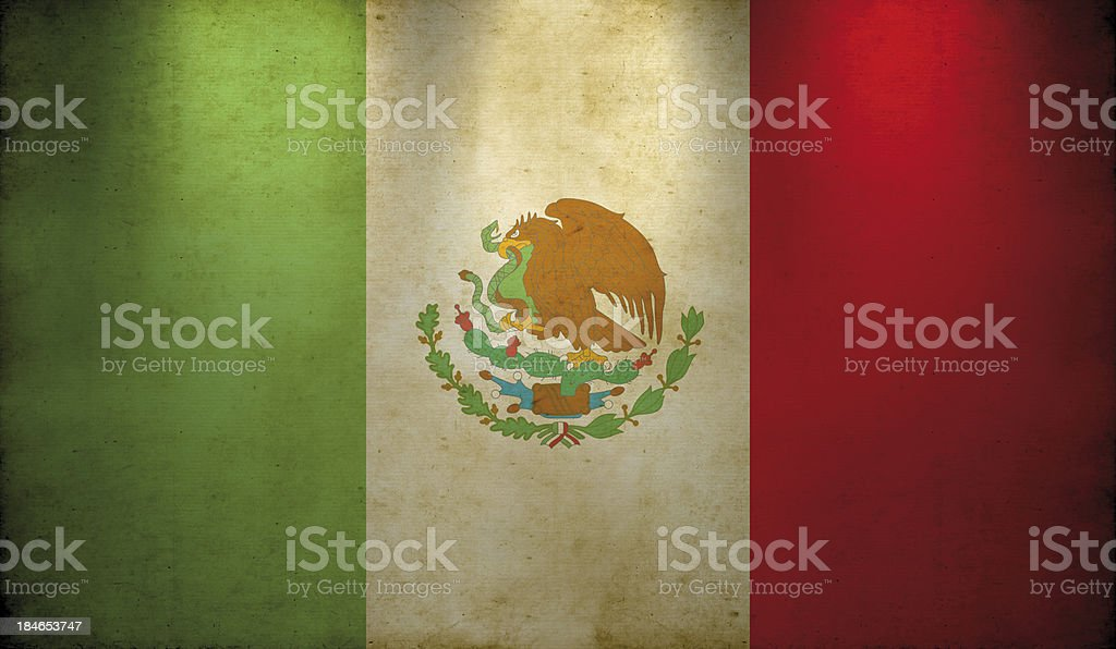 Mexican Flag Grunge Wallpaper royalty-free stock photo