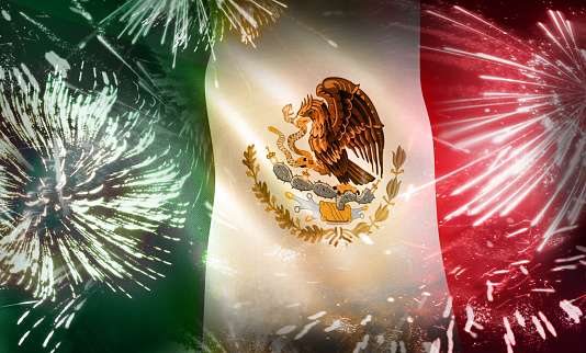 Mexican Flag Holiday Fireworks Display